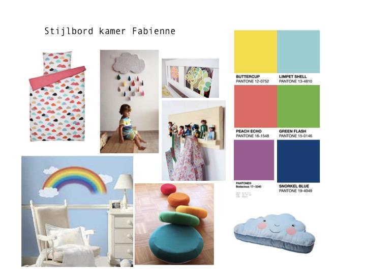 stijlbord regenboogkamer